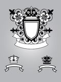 Emblem with flowers Royalty Free Stock Image