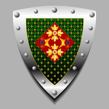Emblem in the form of a shield Royalty Free Stock Photography