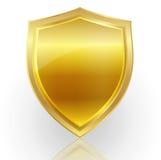 Emblem frame gold Royalty Free Stock Image