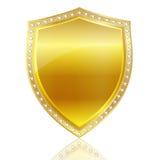 Emblem frame gold Stock Image