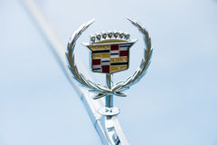 Emblem of a full-size luxury car Cadillac de Ville series Royalty Free Stock Image