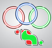 Emblem games. Symbol sports graphic Royalty Free Stock Photo