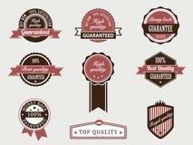 emblem garantan högvärdig kvalitet Vektor Illustrationer