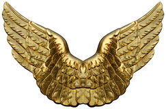 Emblem Of Golden Wings Stock Image