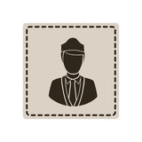 Emblem guard person icon. Illustraction design image Royalty Free Stock Photography