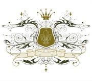 emblem heraldic vintage Arkivbilder