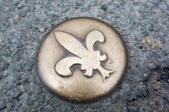 Emblem i staden av Blois, Loire Valley arkivbilder