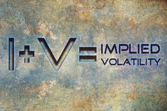 Emblem implied volatility Royalty Free Stock Photography