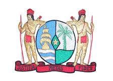 emblem isolerad nationell suriname white Royaltyfri Foto