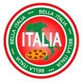 emblem italia royaltyfri illustrationer