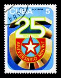 Emblem, 25 Jahrestag serie, circa 1986 Stockfotos