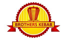 Emblem Kebab icon Template royalty free illustration