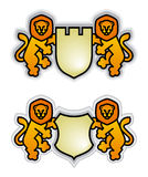 Emblem with lions Stock Image