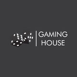 The emblem or logo of the casino, gambling house with the image of black playing dice. Stock Photography