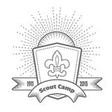 Emblem (logo) Scout camp Stock Photos