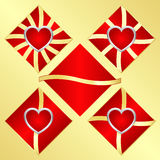 Emblem of love Stock Images
