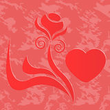 Emblem of love Stock Photo