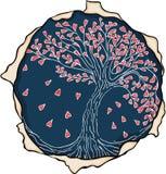 Emblem love tree Royalty Free Stock Images