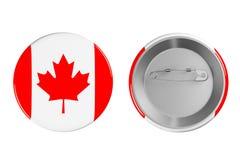 Emblem med den Kanada flaggan Royaltyfria Foton