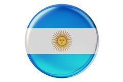 Emblem med flaggan av Argentina, 3d royaltyfri illustrationer
