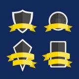 Emblem med sköldform Arkivbild