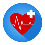 The emblem for medical examination of the cardiovascular department vector illustration