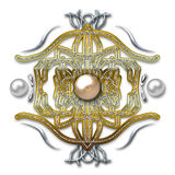 Emblem on metal background Royalty Free Stock Image