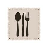 emblem metal cutlery icon Royalty Free Stock Photos