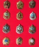 Emblem militär skola, samling royaltyfria bilder