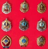 Emblem militär skola, samling arkivbild