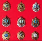 Emblem militär skola, samling royaltyfri bild