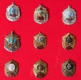 Emblem militär skola, samling arkivfoton
