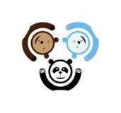 Emblem mit drei Bären lizenzfreie abbildung