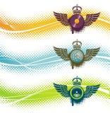 Emblem mit drei Musikalen Lizenzfreies Stockfoto