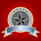 Emblem mit Fahne (Vektor) lizenzfreie abbildung