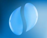 Emblem mit zwei Wassertropfen Stockfoto