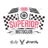 Emblem of the motorcycle club in retro style Stock Photography