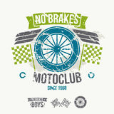 Emblem of the motorcycle club in retro style Stock Images