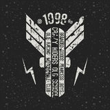 Emblem motorcycle club in retro style Royalty Free Stock Photography