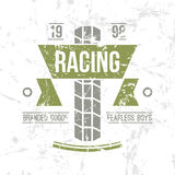Emblem motorcycle racing club in retro style Royalty Free Stock Images