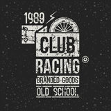 Emblem motorcycle racing club in retro style Stock Images