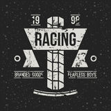 Emblem motorcycle racing club in retro style Royalty Free Stock Photo