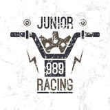 Emblem motorcycle  racing junior Stock Photo