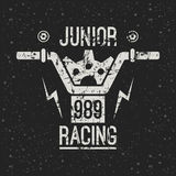 Emblem motorcycle  racing junior Stock Image