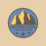 Emblem mountain Stock Image