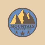Emblem mountain Stock Image