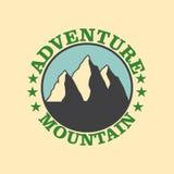 Emblem mountain Stock Images