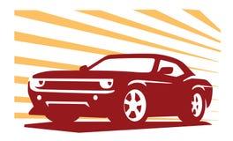 Emblem muscle car Royalty Free Stock Image