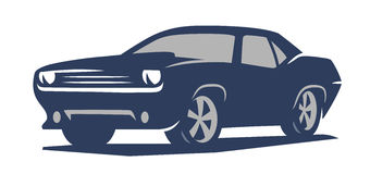 Emblem muscle car Stock Photography