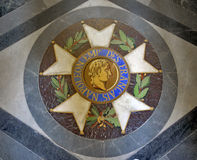 Emblem of Napoleon in the Dome des Invalides, Paris. Emblem of Napoleon in the Dome des Invalides in Les invalides complex in Paris, France Stock Photo